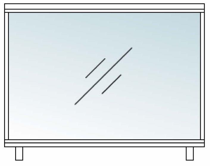 フォルム シャープガラス枠